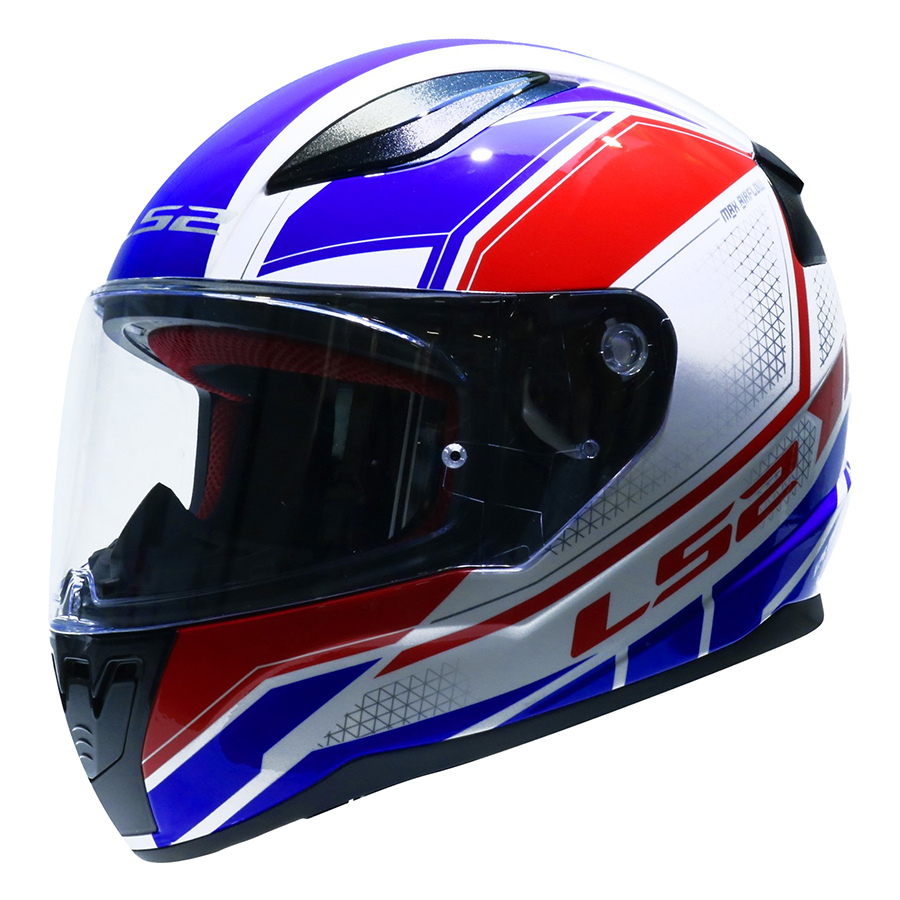 Mũ Bảo Hiểm FullFace LS2 FF353 Rapid InFinity White Red Blue