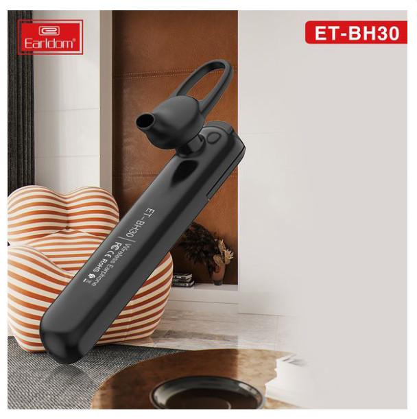 Tai Nghe Bluetooth Earldom 1 tai BH30 dành cho mọi dòng máy - HÀNG NHẬP KHẨU CHÍNH HÃNG 100% màu đen