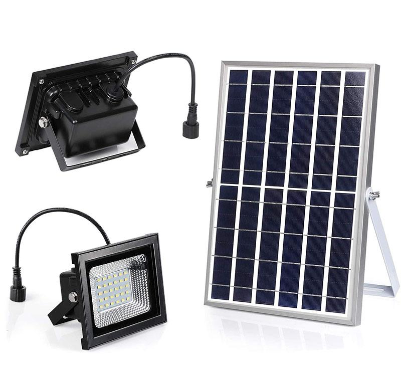 Đèn năng lượng mặt trời Solar Light JD-9040 gồm 2 đèn 40W, chỉ số chống nước IP67