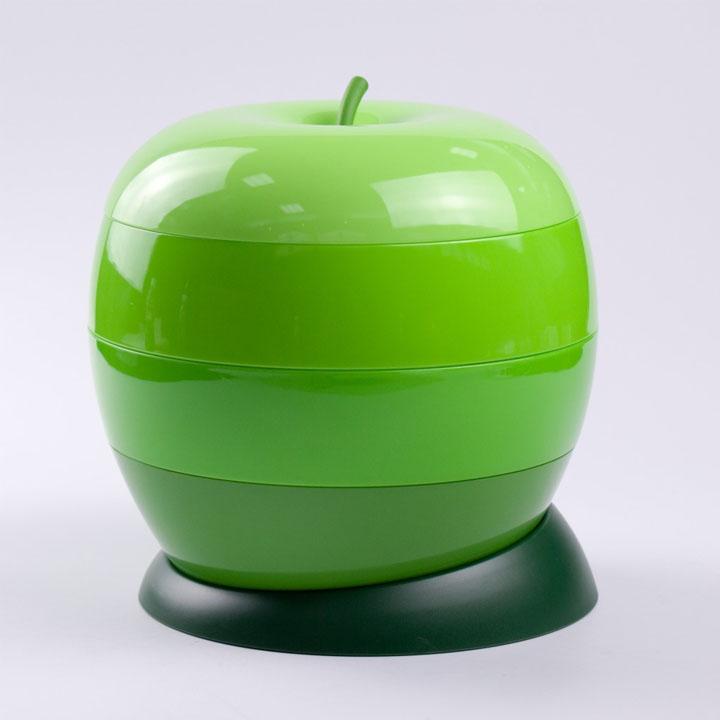 Khay mứt hình táo - Hộp mứt xoay hình quả táo