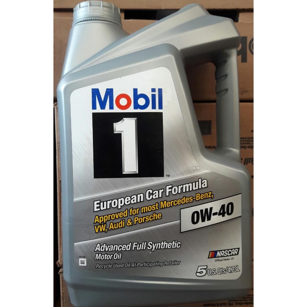 Nhớt động cơ Mobil 1 0W40 (4.73 lít) - Dầu nhớt Mobil - Nhập khẩu từ Mỹ