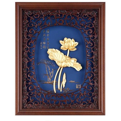 Khung tranh kèm tranh hoa sen DD05