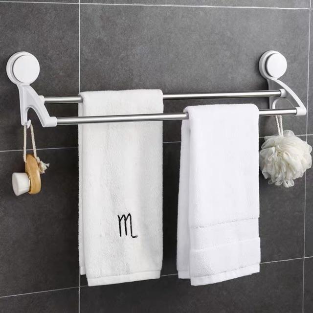 Kệ cheo khăn nhà tắm hợp kim nhôm trống bám bụi bẩn cao cấp