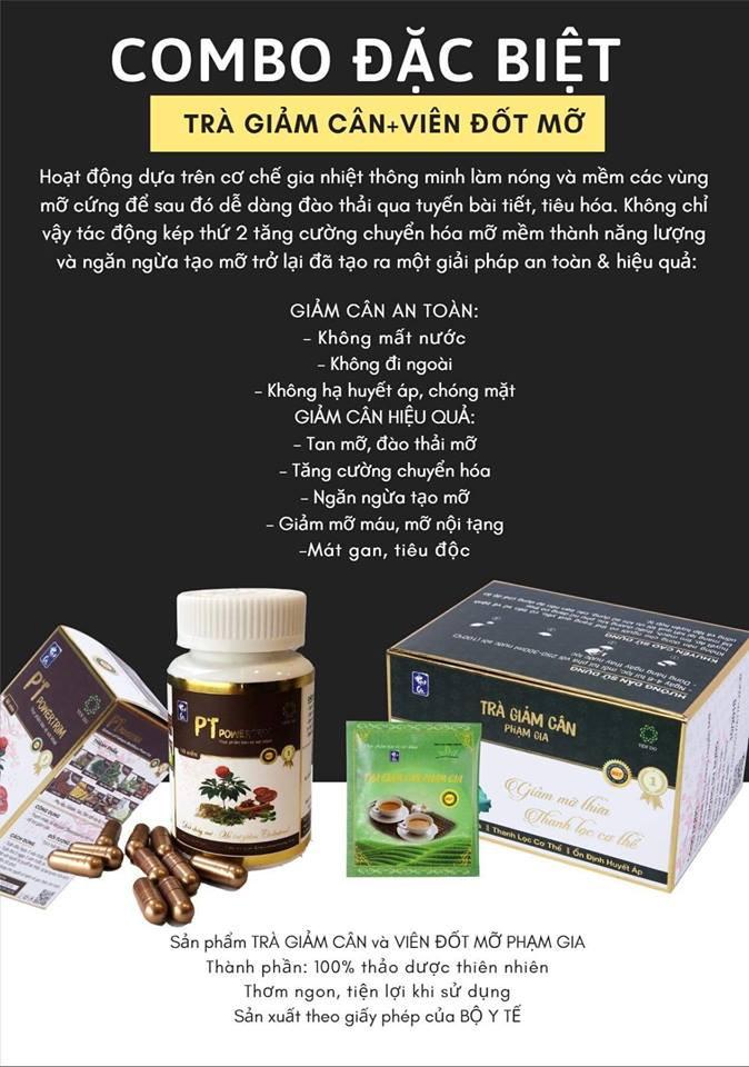 Thực phẩm chức năng bảo vệ sức khỏe Trà hỗ trợ Giảm Cân Phạm Gia Gold 3+ 4