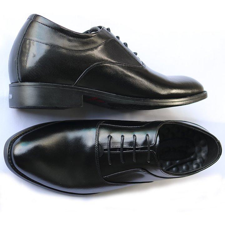 Giày Tây Nam Tăng Chiều Cao, Da Bò Mã LLC-02 Tăng Cao 6.5 cm