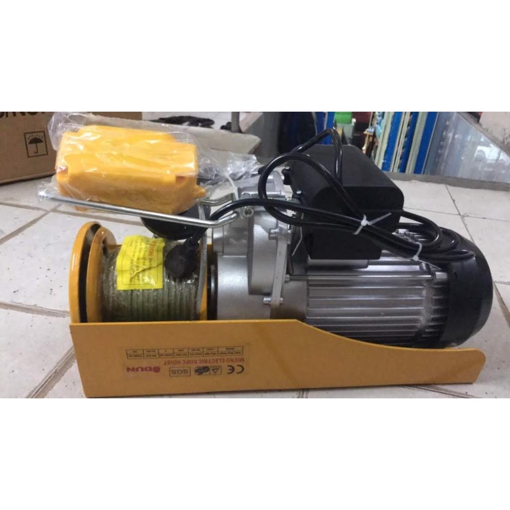 Tời điện Udun UD 500-1000kg, made in Thái lan,  nặng 29 kg, dây đồng chịu nhiệt độ nên bền