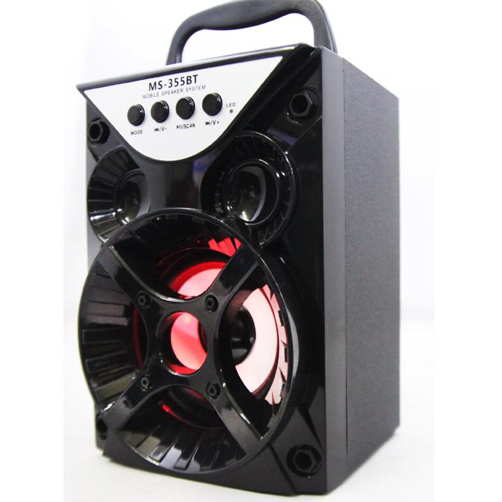 Loa Nghe Nhạc Kéo Xách Tay MS-355BT 6W Hỗ Trợ Bluetooth, USB, Thẻ Nhớ, Nghe Đài FM (Màu giao ngẫu nhiên) - Hàng Nhập Khẩu