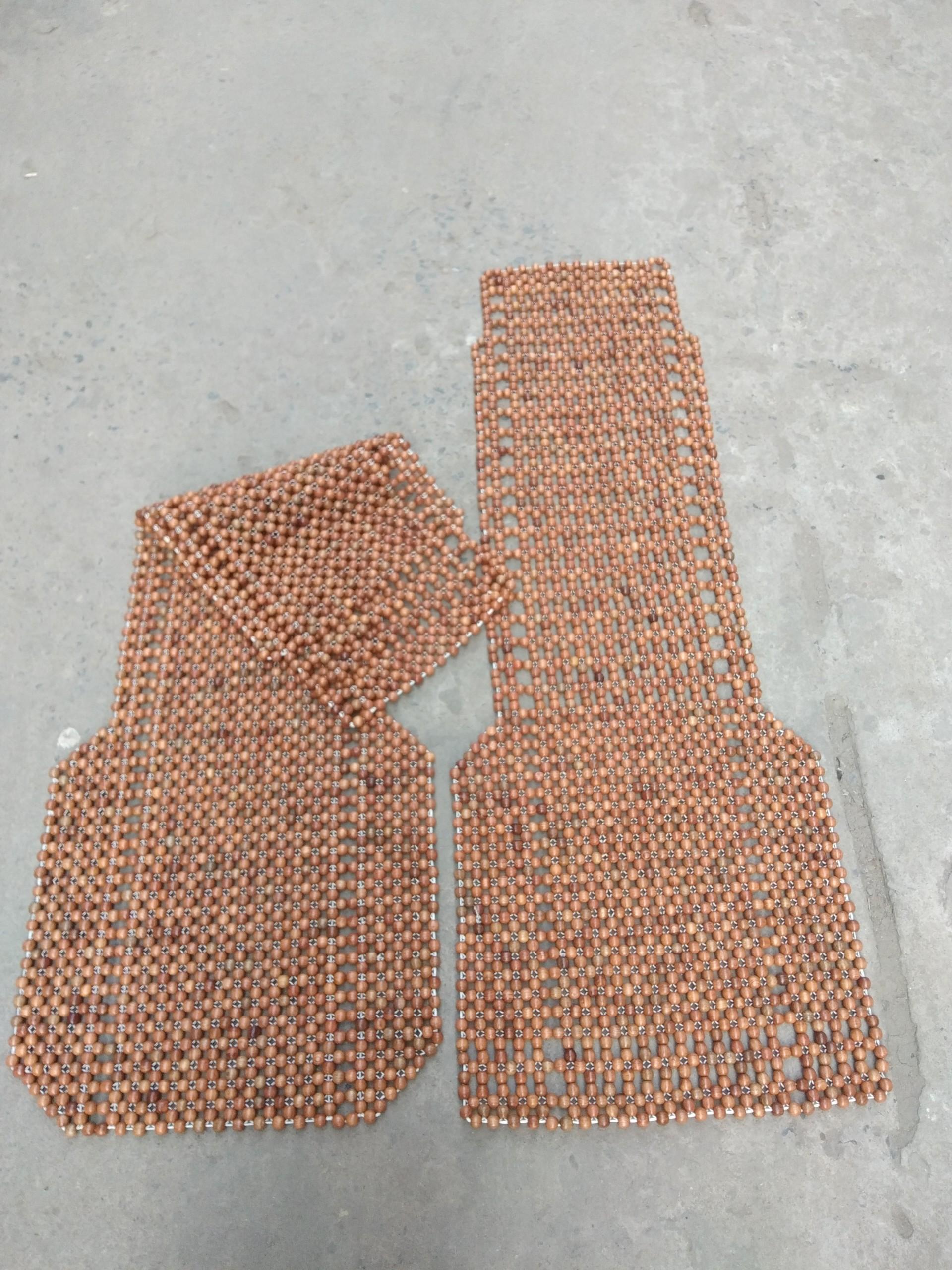 Combo 2 Đệm lót ghế xe ô tô hạt gỗ hương mộc 12ly - hình thật