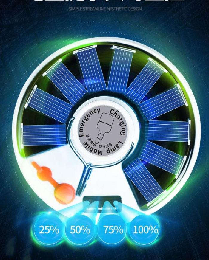 Đèn năng lượng mặt trời di động có điều khiển