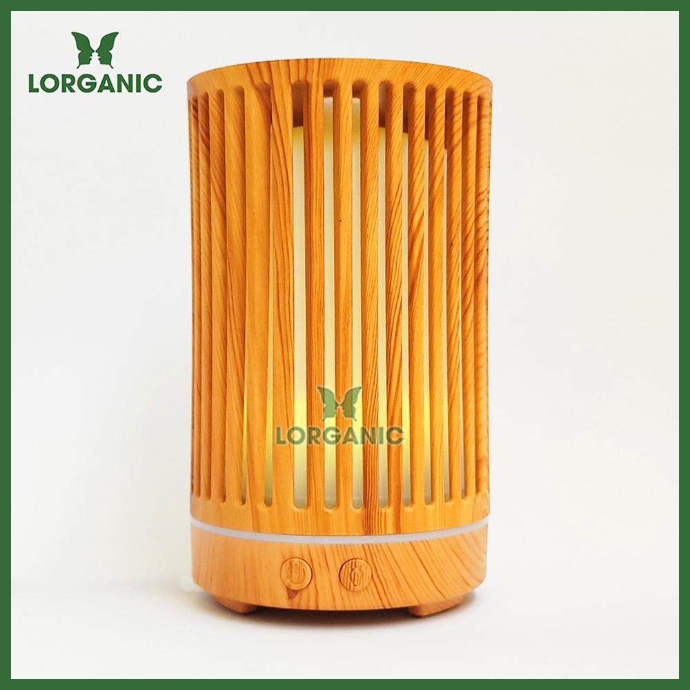Combo máy khuếch tán/ máy xông tinh dầu Lorganic Trụ Sọc FX2063 + tinh dầu cam hương Lorganic (10ml)/ Phun sương sóng siêu âm