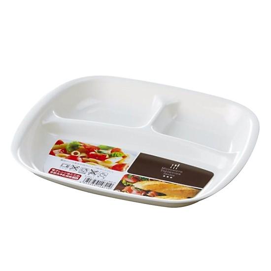 Khay ăn chia 3 ngăn ( Tặng 01 đôi đũa tập ăn, 1 nút bịt ổ điện )