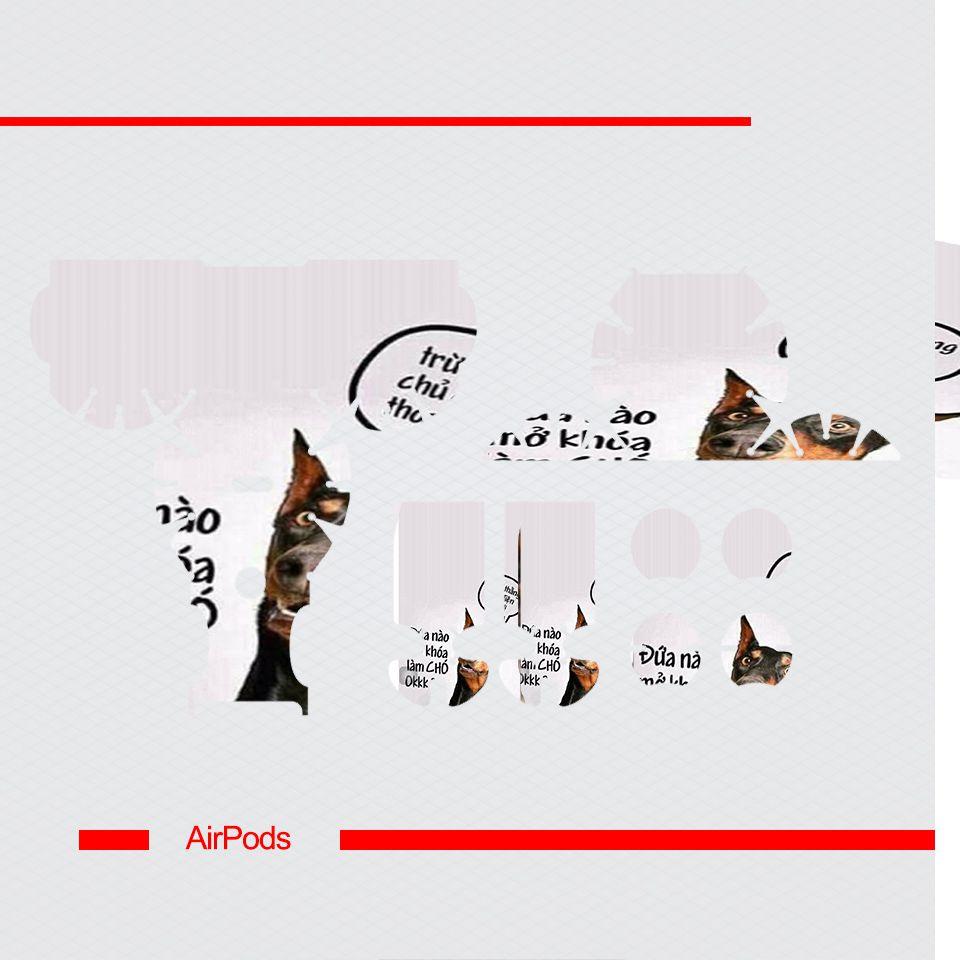 Miếng dán skin chống bẩn cho tai nghe AirPods in hình Mở khóa làm cờ hó - fun029 (bản không dây 1 và 2)