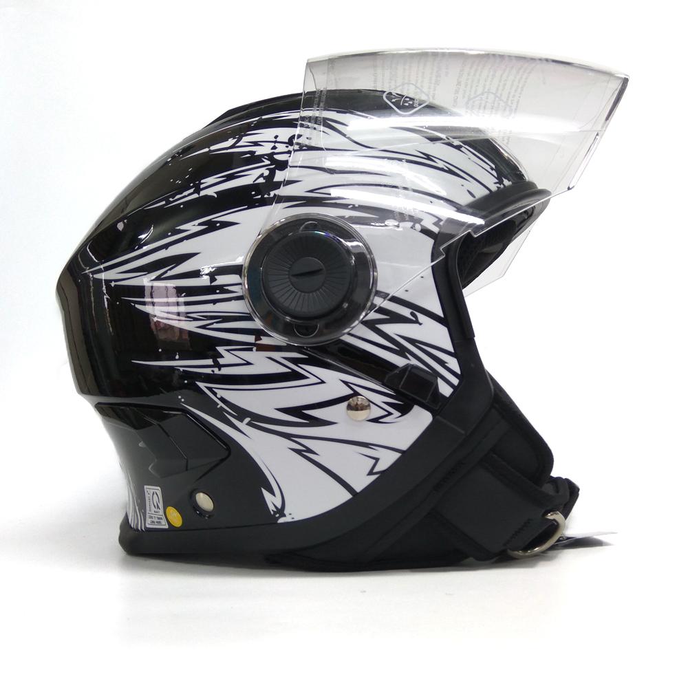 Mũ bảo hiểm SUNDA 617 tem - phiên bản 1 kính - dòng mũ cao cấp cho các biker chuyên nghiệp