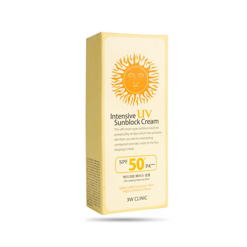 Kem Chống Nắng 3w Clinic Intensive Uv Sunblock Cream Spf 50 Pa+++ 70 Ml