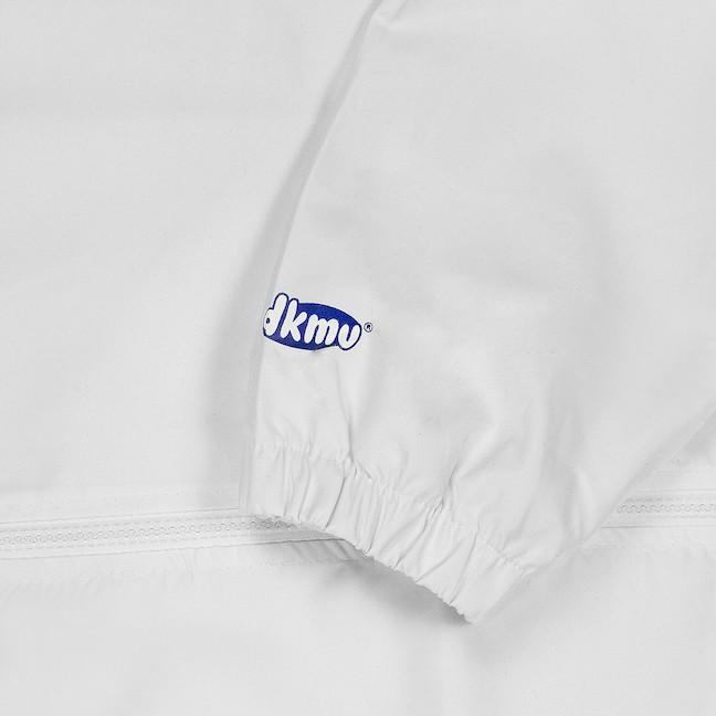 Áo khoác dù nữ màu trắng in hình oversize   DKMV White The Vibe Stealer Jacket