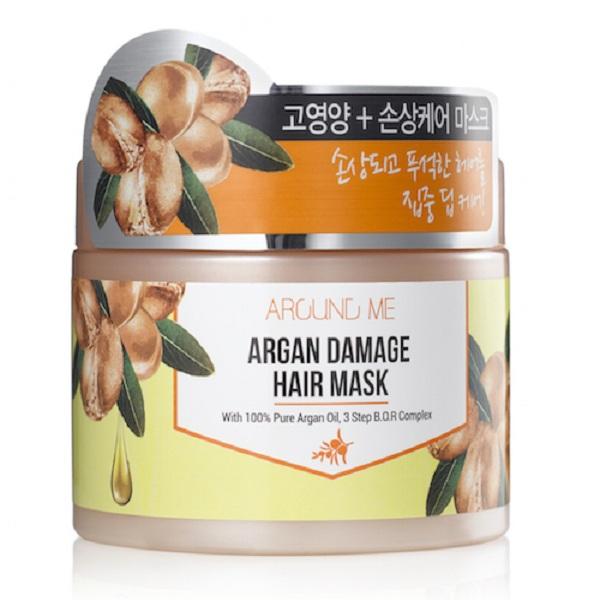 Hấp nguội thảo dược Argan Welcos Around me Argan Damage Hair Mask 300ml
