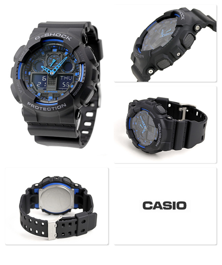 Đồng hồ nam dây nhựa Casio G-SHOCK GA-100-1A2DR