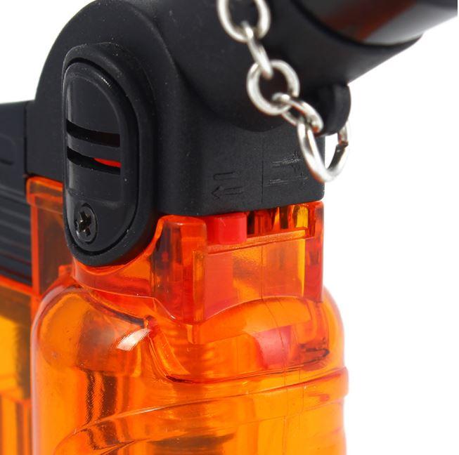 Hộp Qụet Bật Lửa Khò 1 Tia Để Bàn HC710 Thiết Kế Đẹp Độc Lạ Lửa Khò Mạnh Mẽ ( giao màu ngẫu nhiên ) + Tặng Bình Gas Chuyên Dụng Cho Bật Lửa