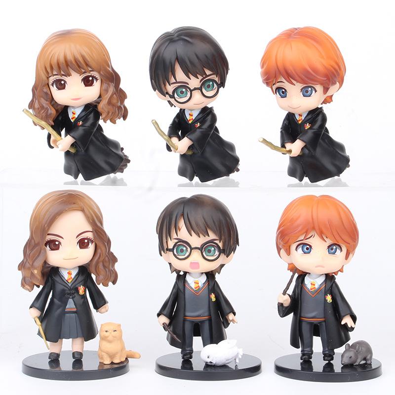 Mô hình 06 Nhân Vật Harry Potter Phiên Bản Đầu To 10Cm