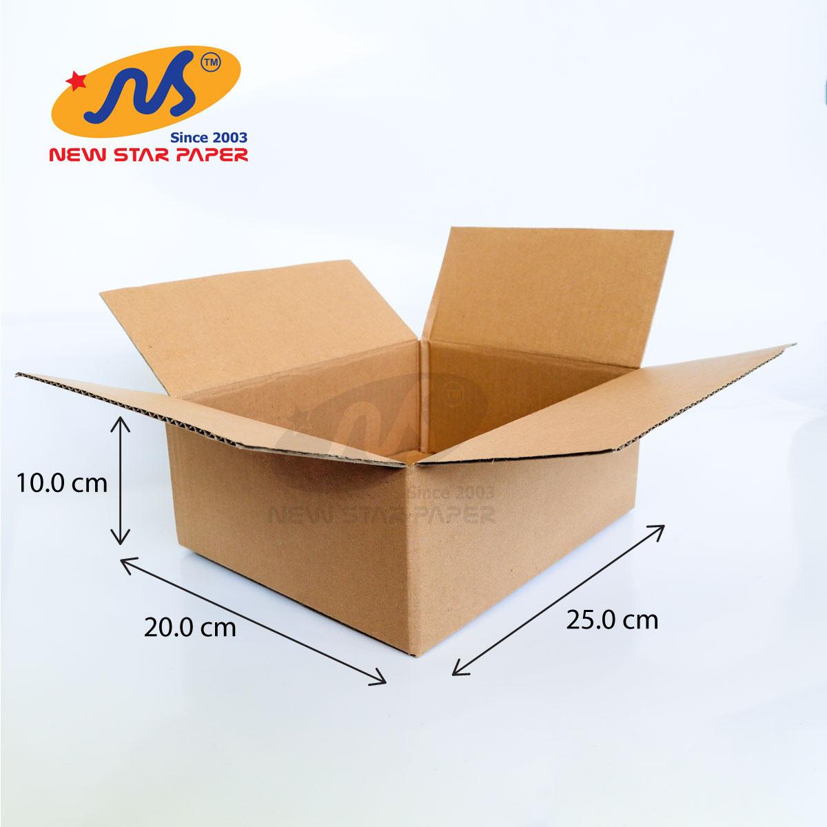 25x20x10cm - Combo 10 thùng giấy carton