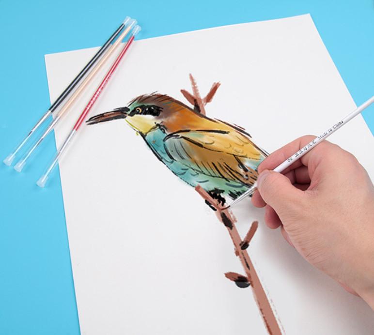 Cọ vẽ chuyên dụng vẽ màu nước sơn dầu màu acrylic nét nhọn mảnh
