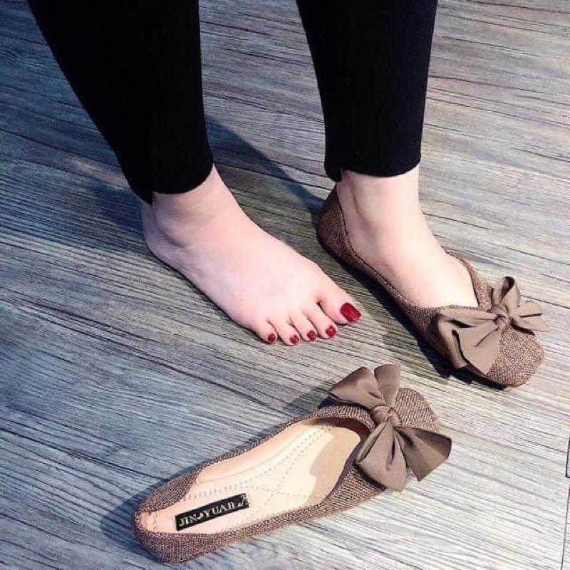 Giày búp bê nơ sale