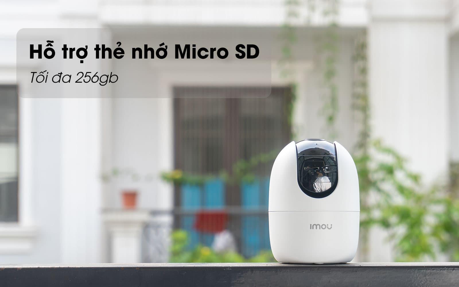 Camera imou A22EP 1080P (2MP) kèm thẻ nhớ 32GB tích hợp tính năng Privacy Mask bảo vệ gia đình bạn 24/7- Hàng chính hãng (tặng kèm đầu đọc thẻ nhớ cao cấp)