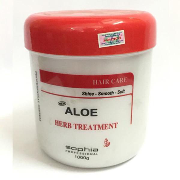 Kem ủ tóc siêu thảo dược Sophia Platinum Aloe Herb Treatment New Hàn Quốc 1000ml tặng kèm móc khoá