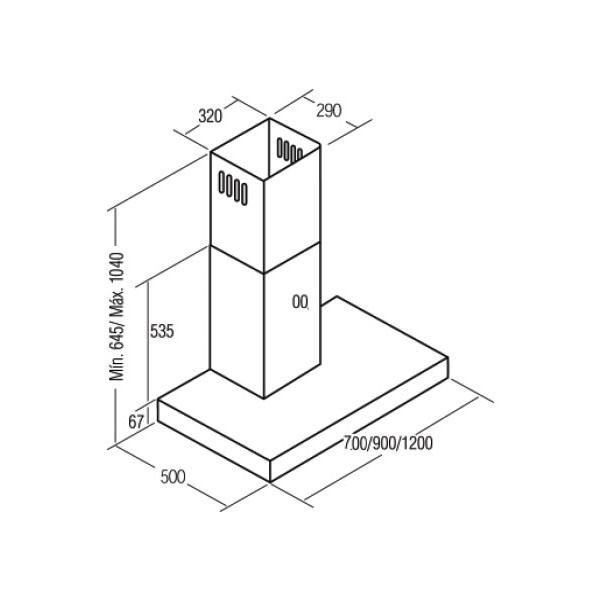 Máy hút mùi CATA SELENE 900 INOX/B(Hàng Chính Hãng)