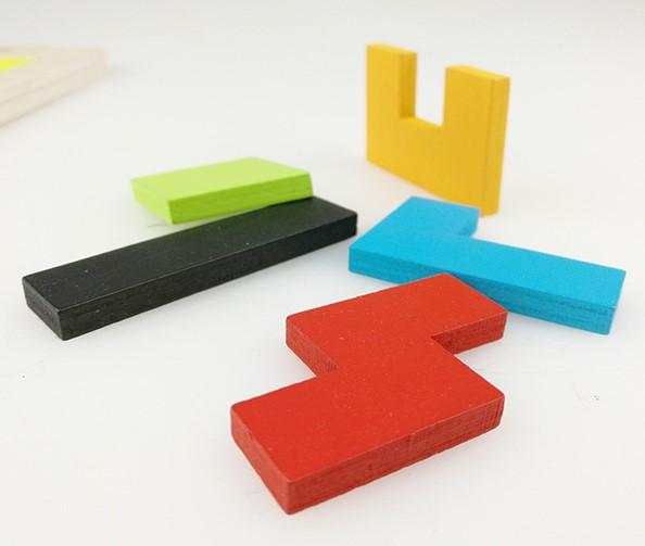 Bộ đồ chơi gỗ xếp hình Tetris