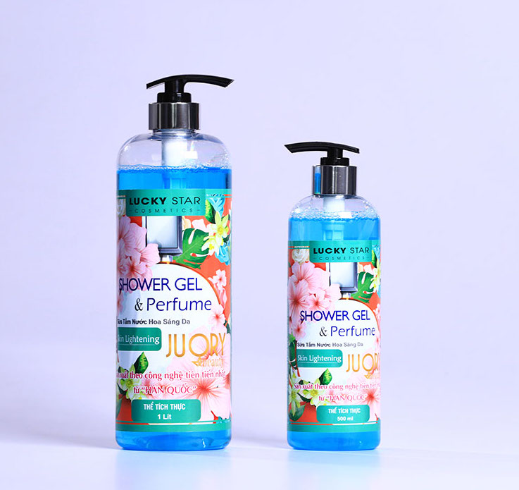 Hộp Quà tặng Sữa tắm Nước Hoa Coco Lucky Star 500ml + Bông tắm