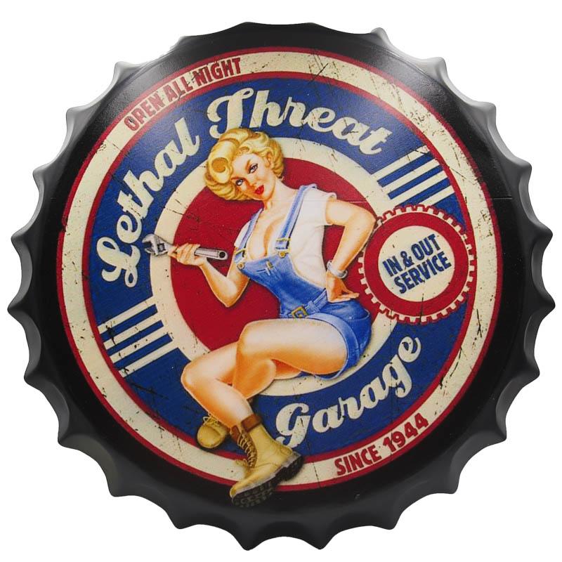 Lethal threat garage - Nắp phén 35cm vintage decor trang trí