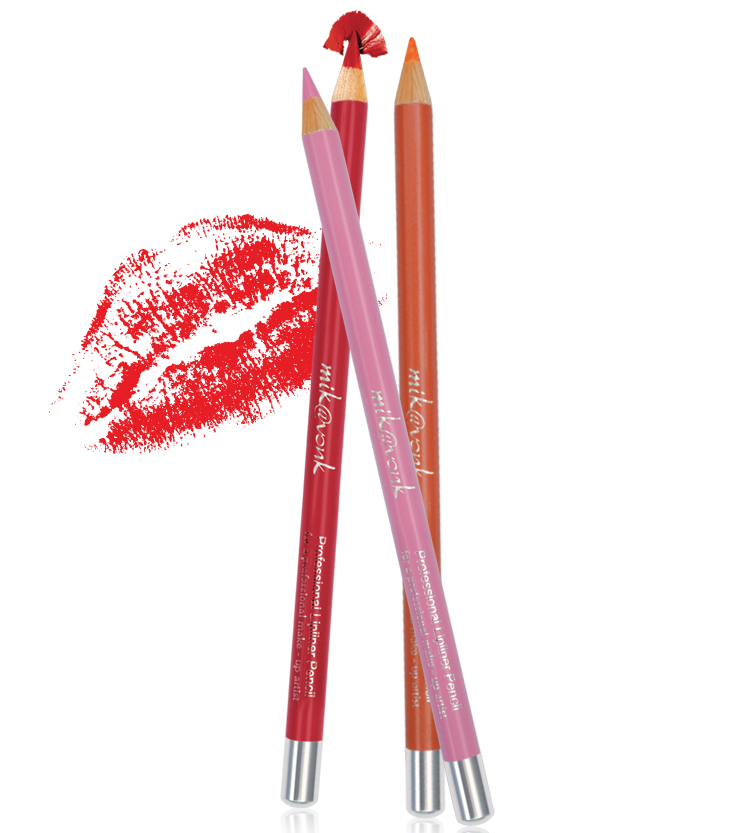 Chì Kẻ Môi Quyến Rũ Mik@Vonk Professional Lipliner Pencil Hàn Quốc #09 Màu đỏ  tặng kèm móc khoá - 1 cây