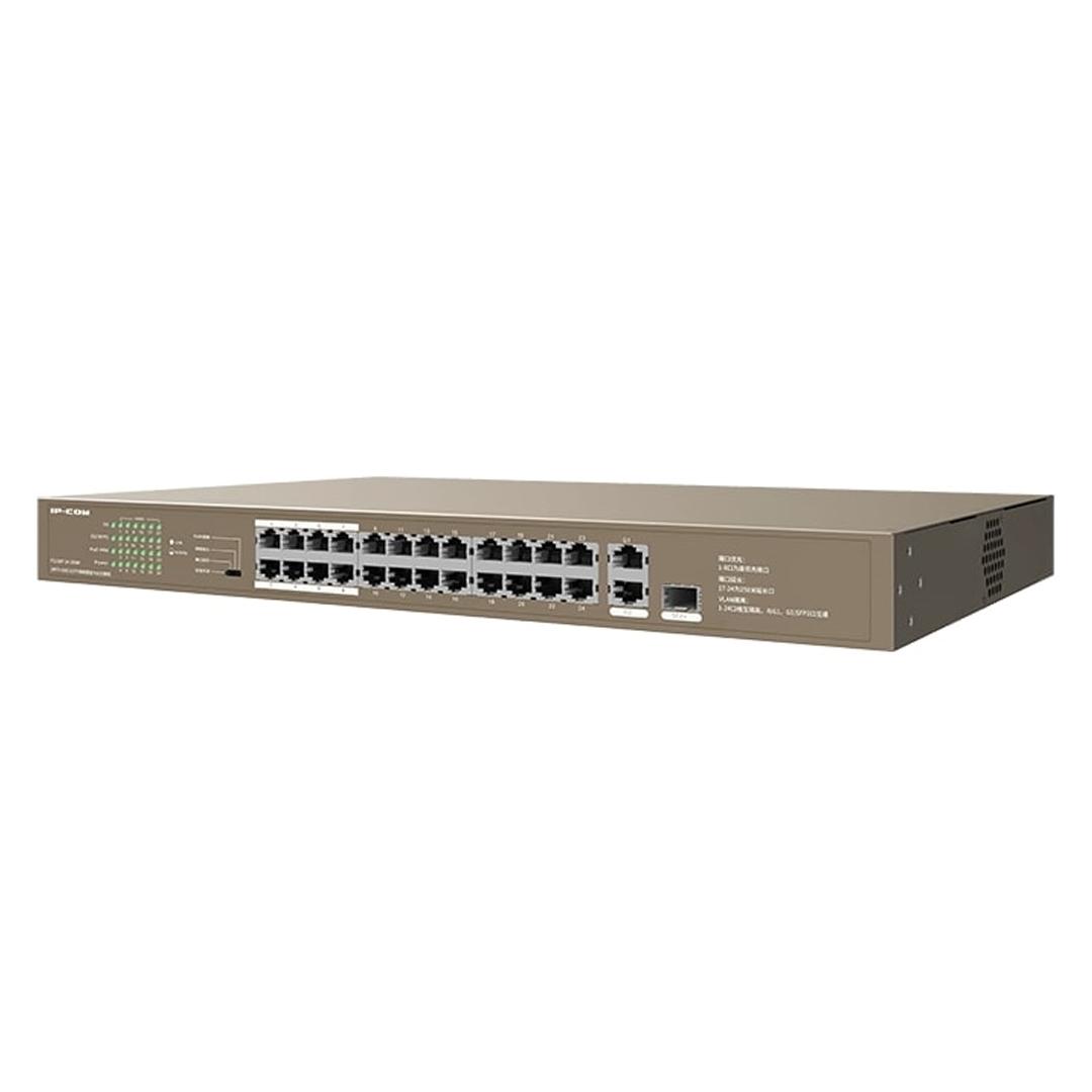 Switch  24 cổng PoE - Tx RJ45 Ports  10/100Mbps +1 cổng Gigabit/SFP  IP-COM F1126P-24-250W - Hàng chính hãng