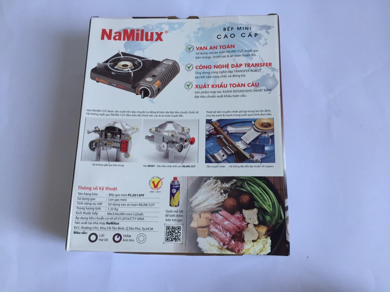Bếp gas mini cao cấp NaMilux PL2013PF - Hàng chính hãng (Giao màu ngẫu nhiên)