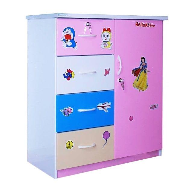 Tủ nhựa Đài Loan 1 cánh 4 ngăn T202 (Phối nhiều màu)