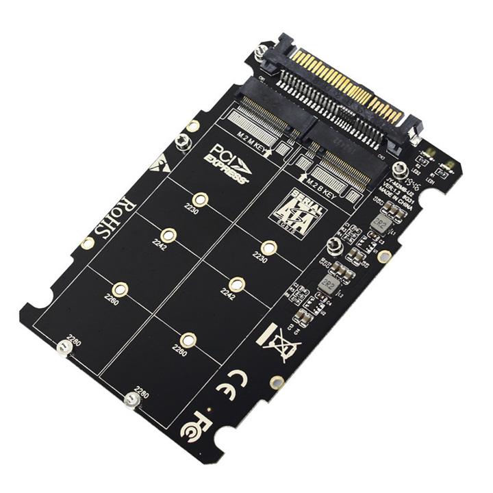 Mạch chuyển đổi SSD M.2 PCIe NVMe, M.2 SATA sang U.2 SFF-8639 - MA17