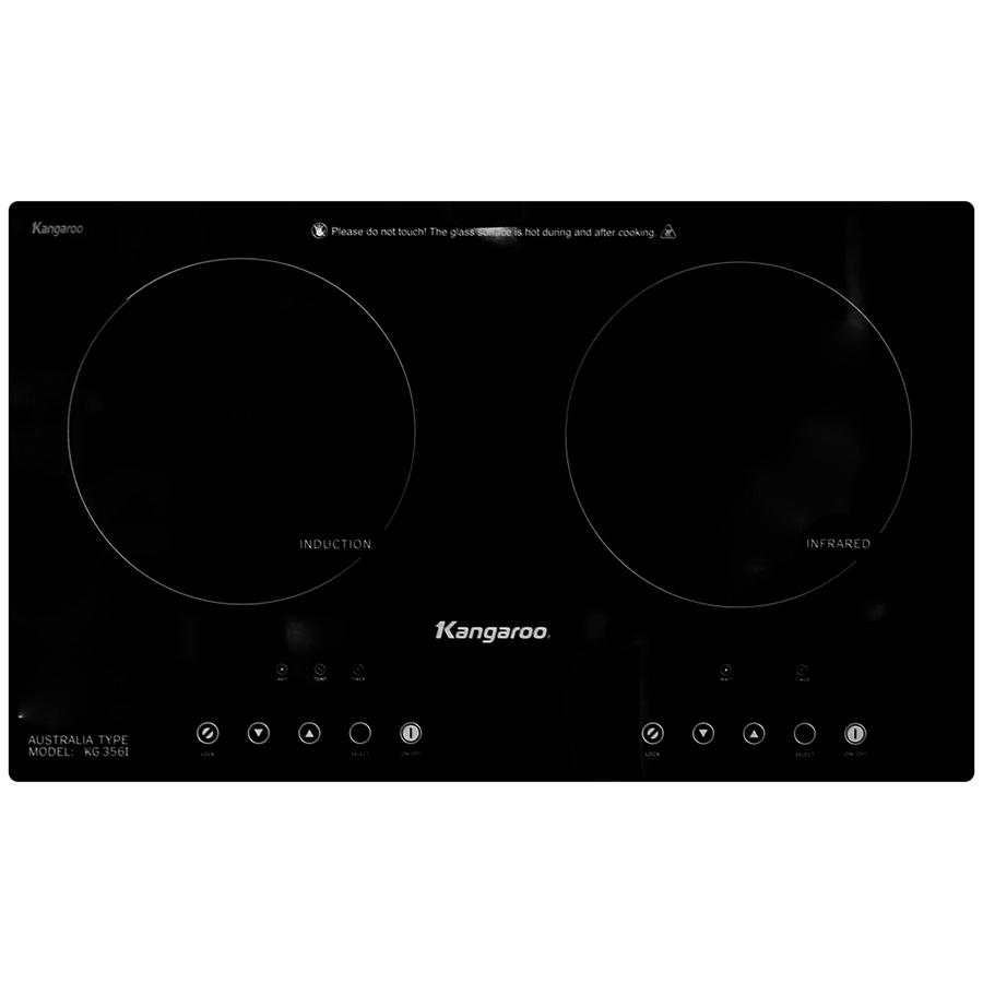 Bếp Âm Đôi Từ - Hồng Ngoại Kangaroo KG356I (69 cm) - Hàng Chính Hãng - Bếp  điện kết hợp