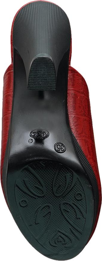 Sục nữ cao gót da bò thật cao cấp màu đỏ đô ESW292