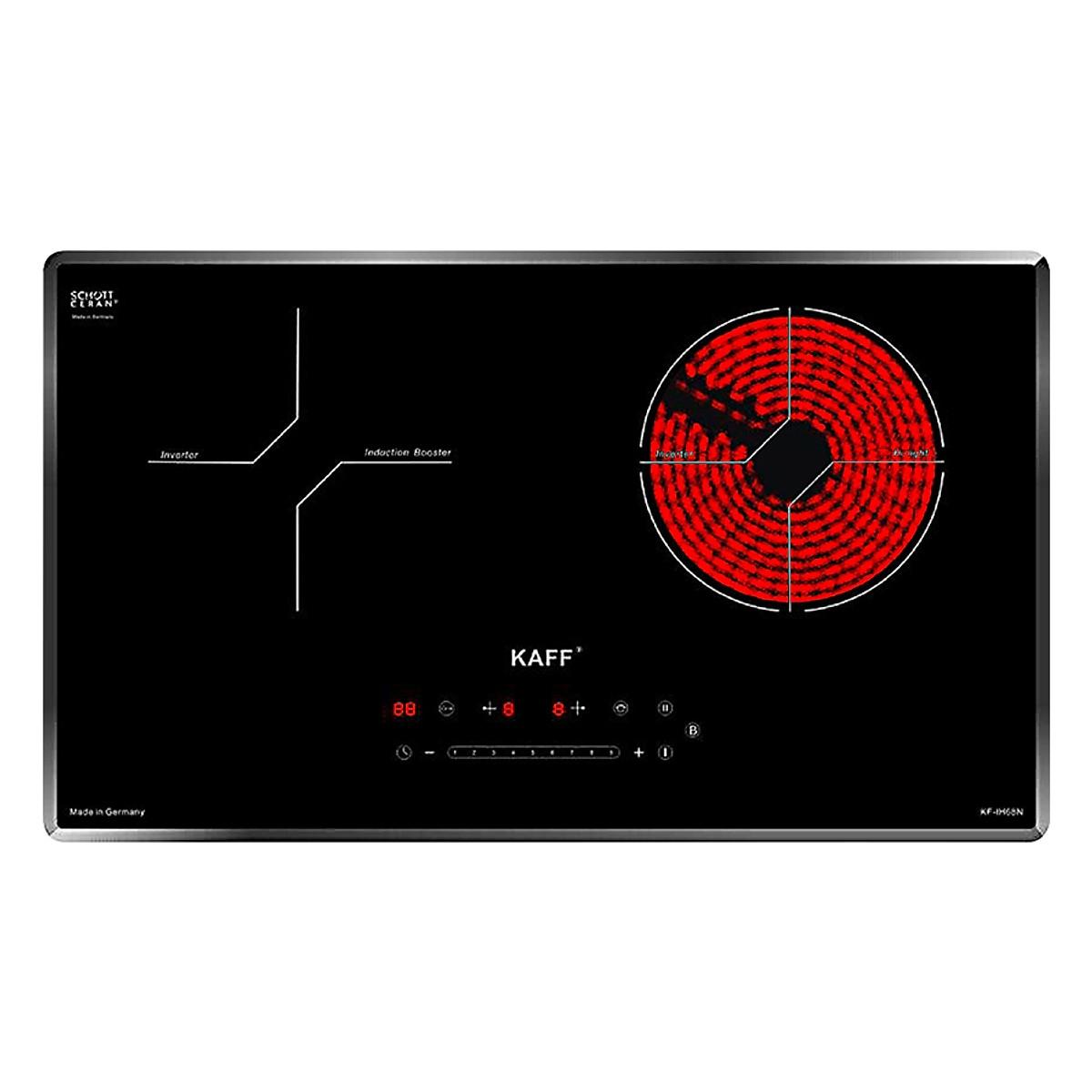 Combo Bếp điện từ kết hợp KAFF KF-IH68N + Đĩa chuyển nhiệt Tescoma Đức - Hàng Chính Hãng