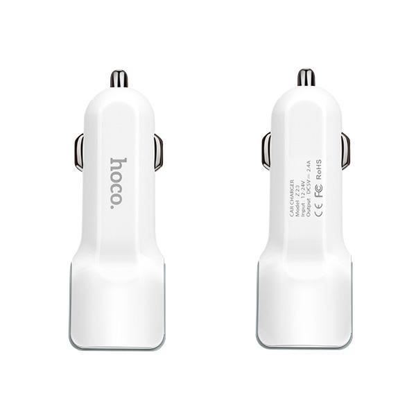 Sạc Xe Hơi 2 Cổng USB Hoco Z23 - Hàng Chính Hãng