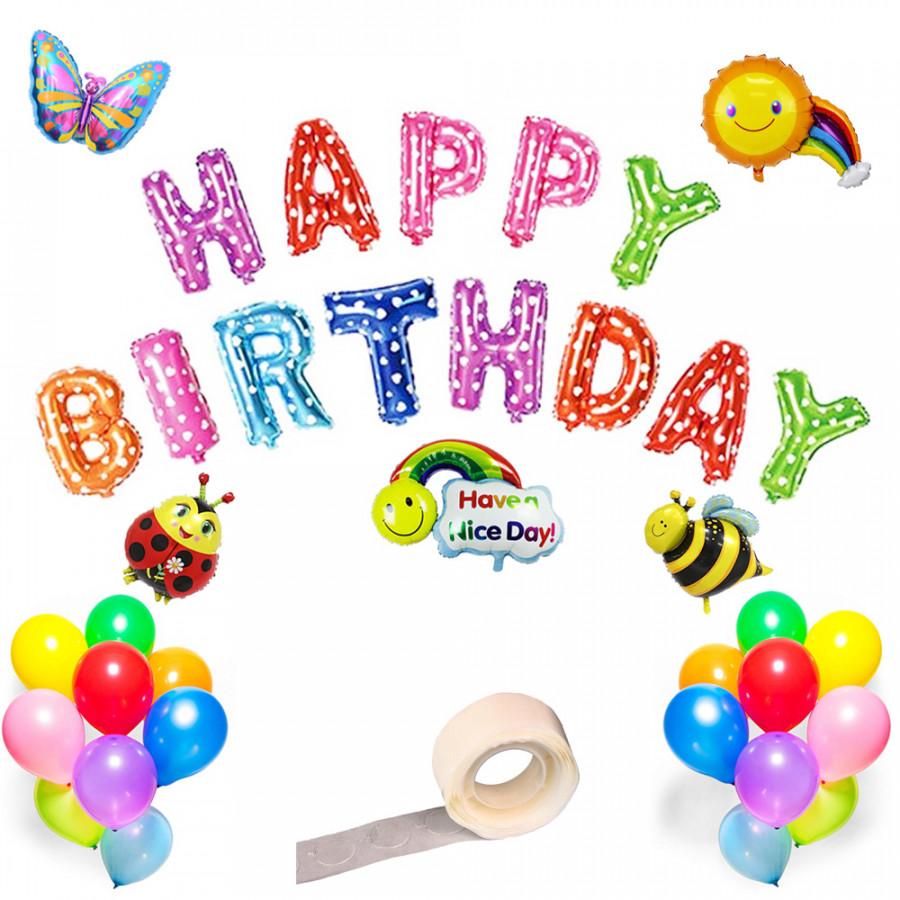 Bộ bong bóng sinh nhật nhiều màu