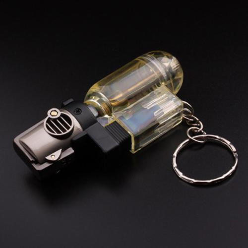 Bật lửa khò 1 tia, lửa mạnh chống gió tốt, có dây đeo chìa khóa