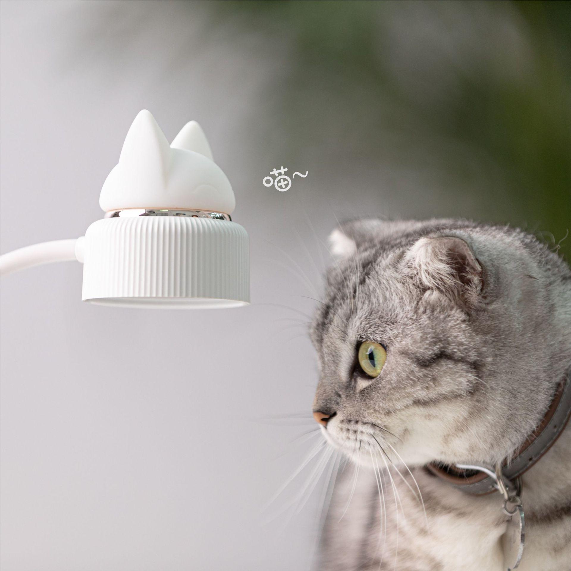 Đèn Bàn Học, Đèn Ngủ Silicon Hình Tai Mèo Thiết Kế Hiện Đại, Phù Hợp Với Mọi Gia Đình, Trọng Lượng: 300g