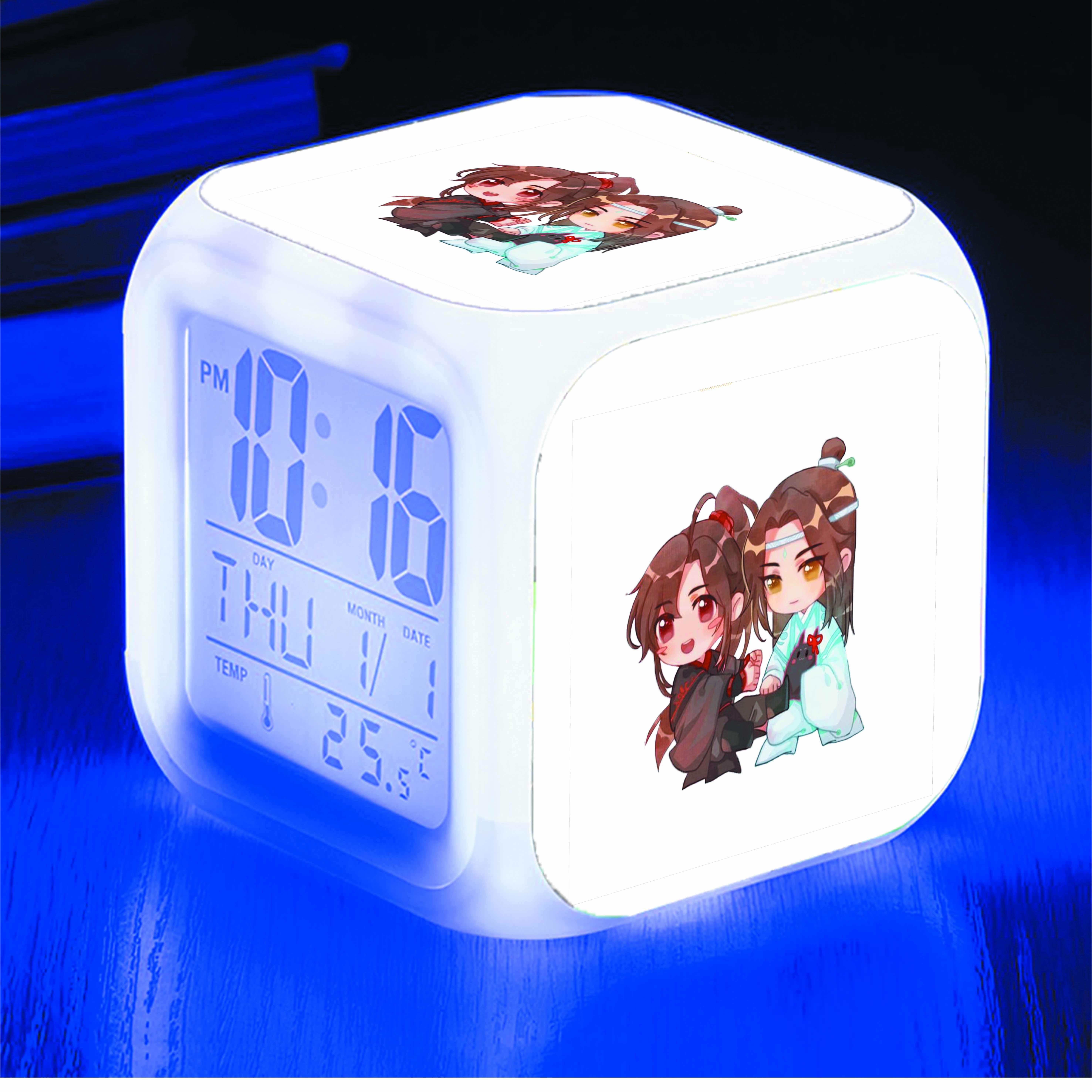 Đồng hồ báo thức để bàn IN HÌNH Ma Đạo Tổ Sư manhua chibi