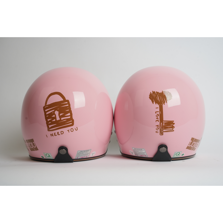 Mũ bảo hiểm Chita 3/4 - CT1 tem Couple size M