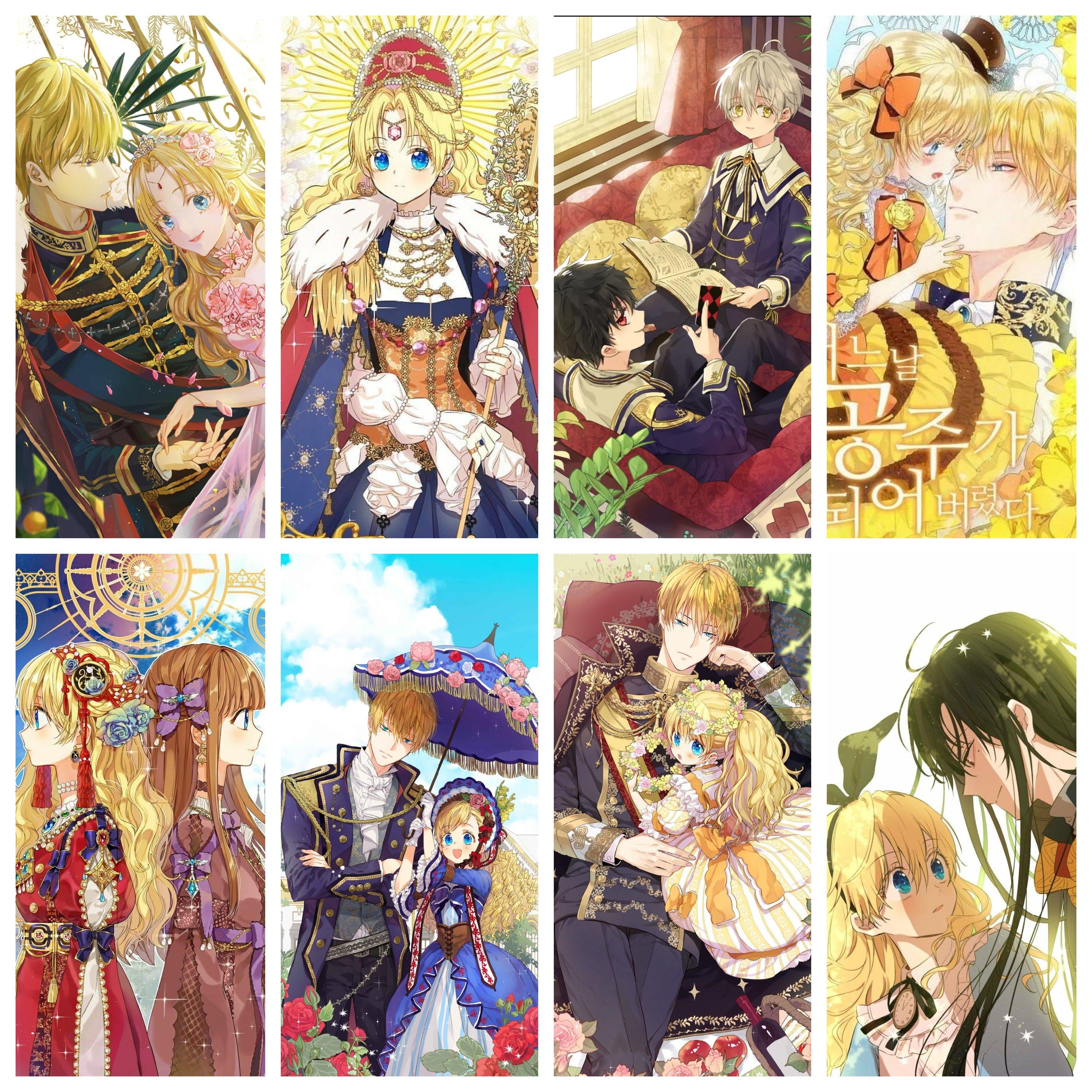 Poster 8 tấm Một ngày nọ tôi bỗng trở thành công chúa anime chibi tranh treo album ảnh in hình đẹp (MẪU GIAO NGẪU NHIÊN)