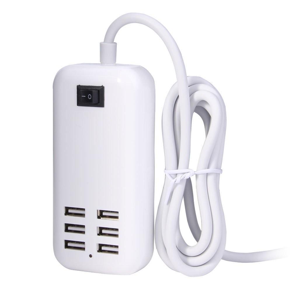 Ổ cắm Hub USB gồm 6 cổng đầu sạc Tiện Lợi, thiết kế nhỏ gọn, linh hoạt phù hợp mọi đối tượng, chất lượng đảm bảo, Giao diện USB2.0 tốc độ cao (Hi-Speed), tốc độ tối đa lên tới 480Mbps và tương thích ngược với các tiêu chuẩn chuẩn USB 1.1 / 1.0