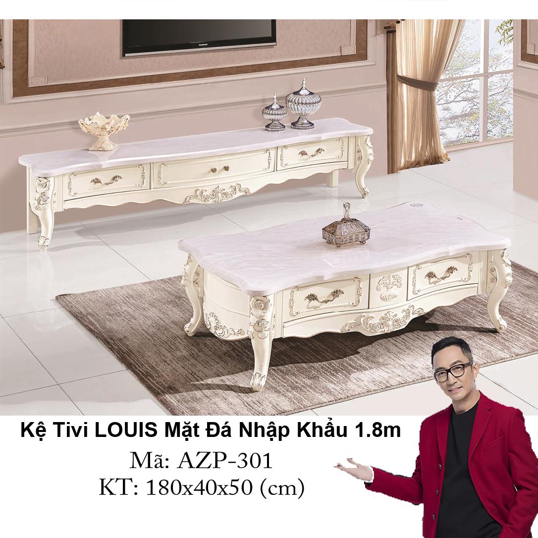 Kệ Tivi LOUIS Mặt đá AZP-TV301 / Dòng Cao Cấp - Hàng Nhập Khẩu