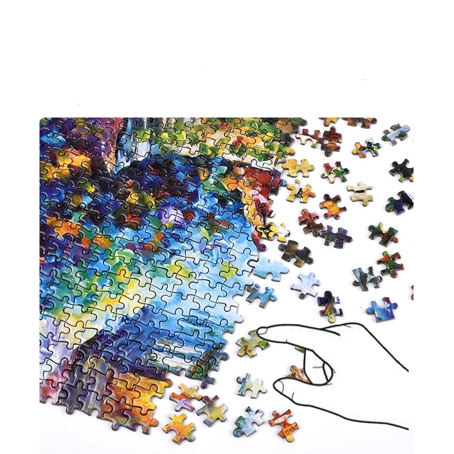 Bộ Tranh Ghép Xếp Hình 1000 Pcs Jigsaw Puzzle Tranh Ghép (75*50cm) Đêm Thành Phố Mưa Bản Đẹp Cao Cấp